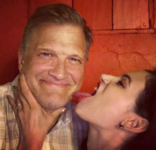 Drew Carey with his current girlfriend.